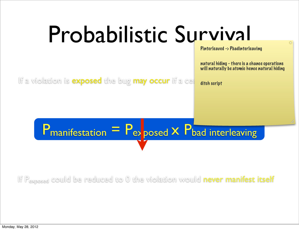Probabilistic Survival Pmanifestation = Pexpose...