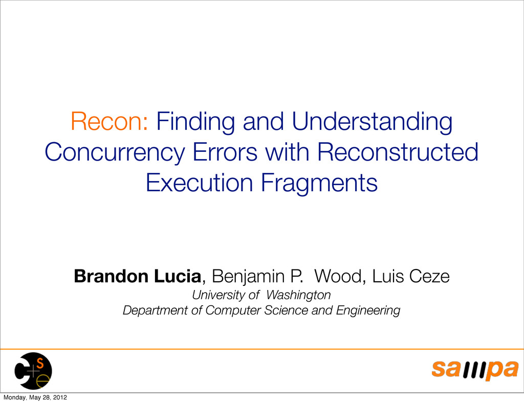 Recon: Finding and Understanding Concurrency Er...