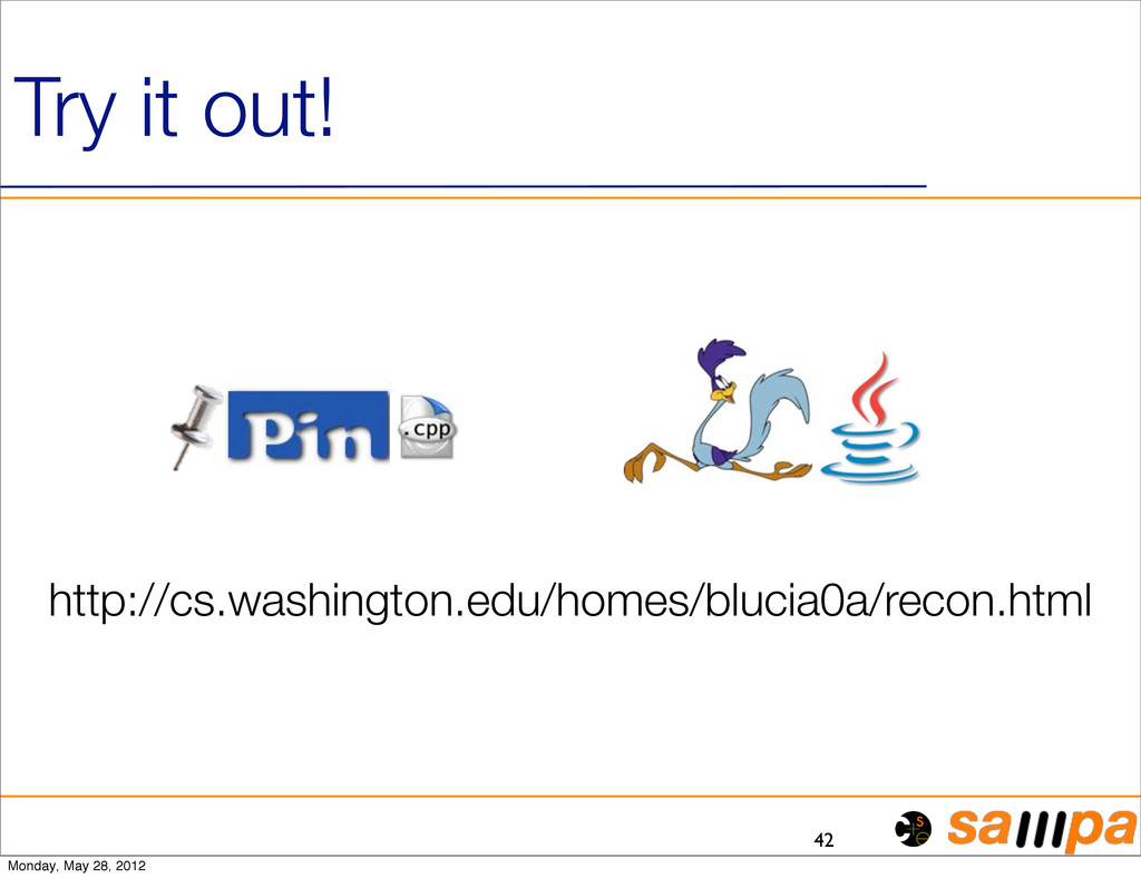 42 Try it out! http://cs.washington.edu/homes/b...