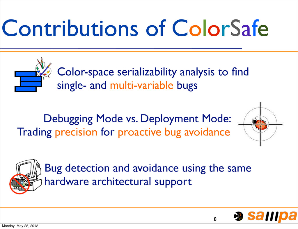 8 Contributions of ColorSafe Color-space serial...