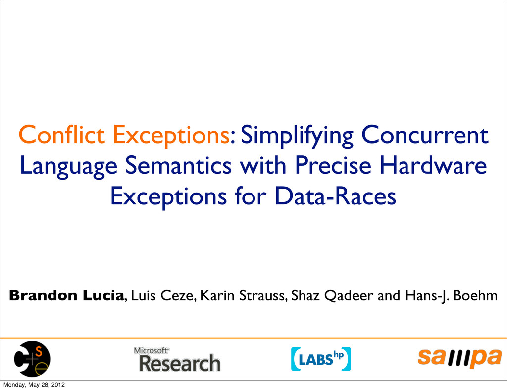 Conflict Exceptions: Simplifying Concurrent Lang...