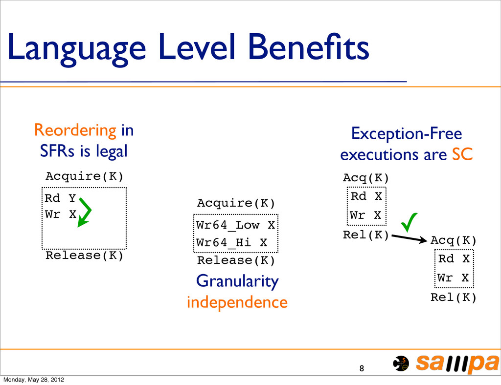 Language Level Benefits 8 Acquire(K) Release(K) ...