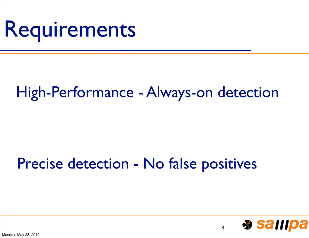 Requirements 4 High-Performance - Always-on det...