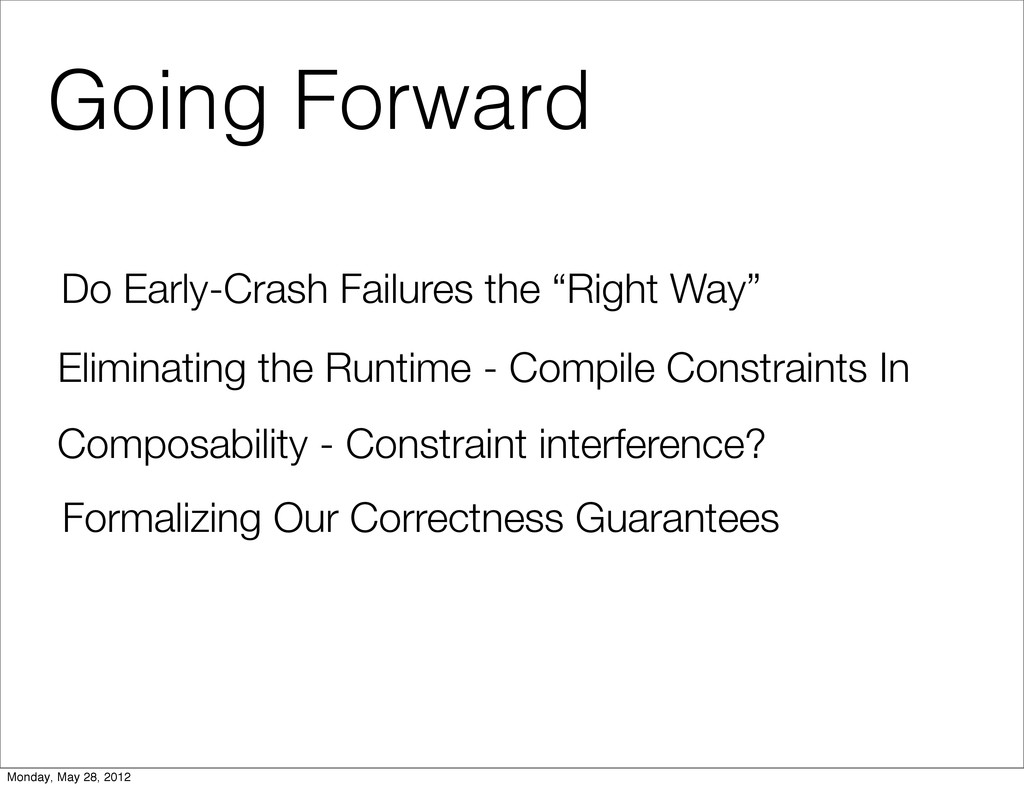 "Going Forward Do Early-Crash Failures the ""Righ..."