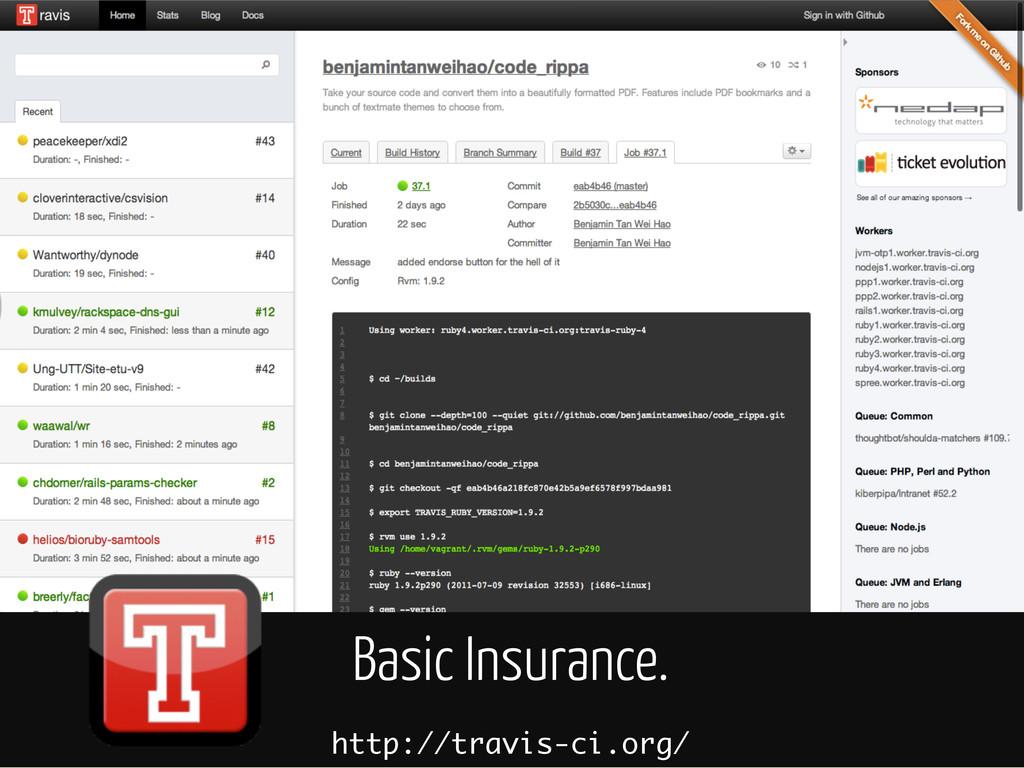 Basic Insurance. http://travis-ci.org/