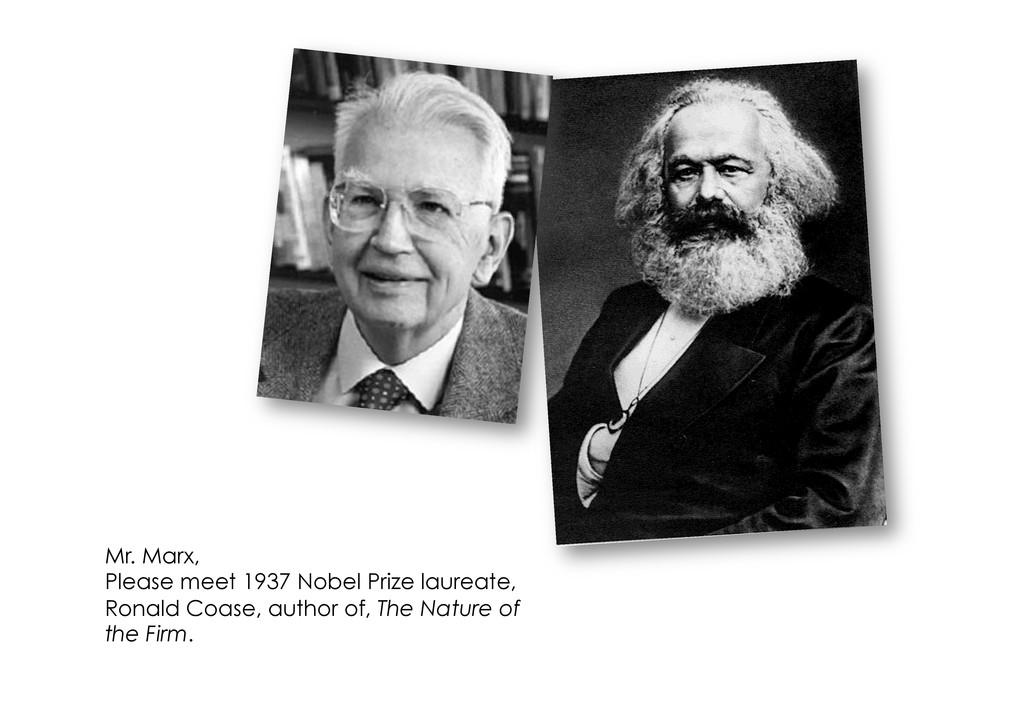 Mr. Marx, Please meet 1937 Nobel Prize laureate...