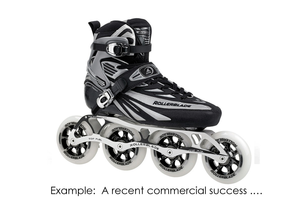 Pe%tbled roller blade.  Patented ...