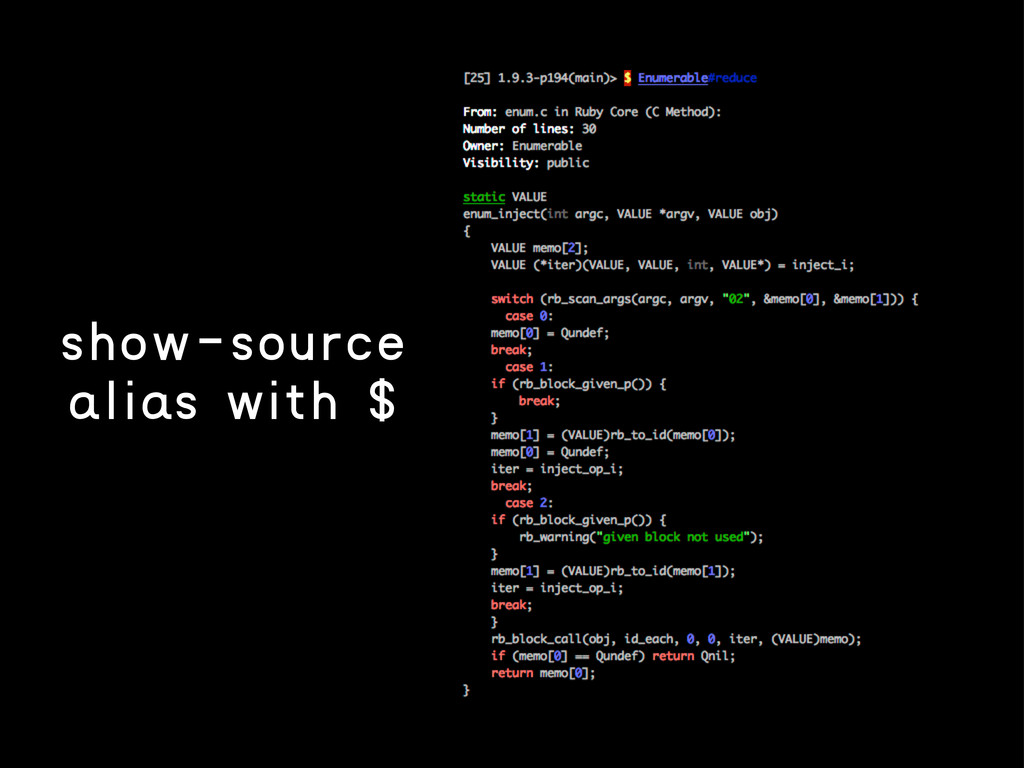 show-source alias with $