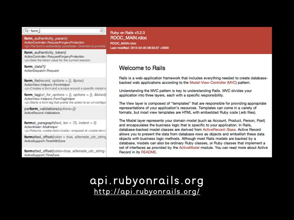 api.rubyonrails.org http://api.rubyonrails.org/