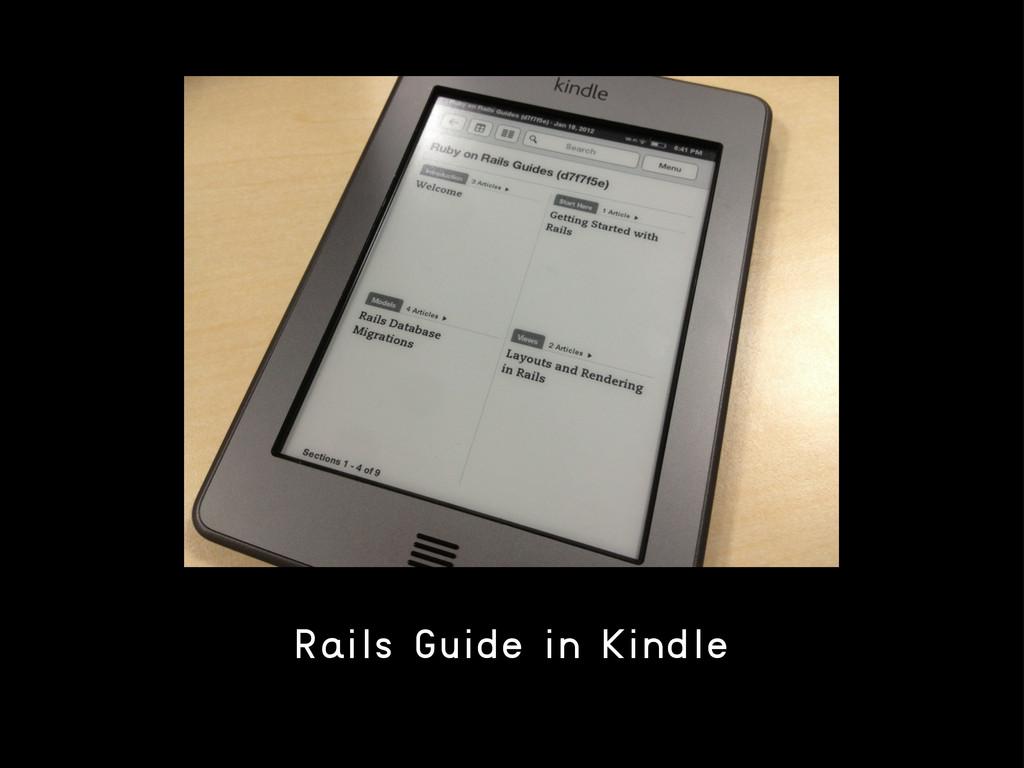 Rails Guide in Kindle