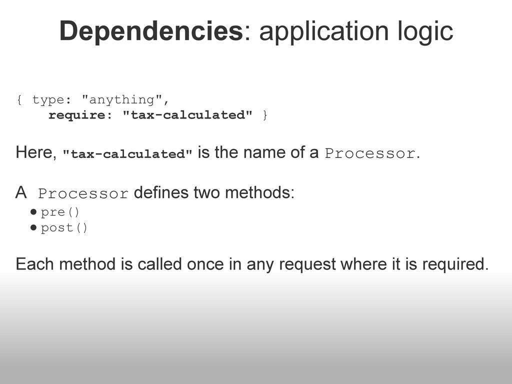 """Dependencies: application logic { type: """"anythi..."""
