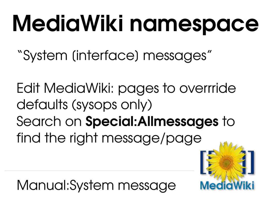 """System [interface] messages"" Edit MediaWiki: p..."
