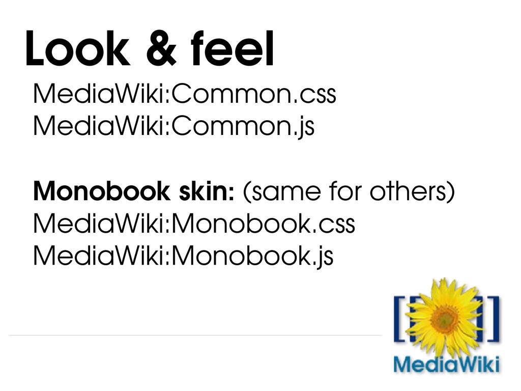 MediaWiki:Common.css MediaWiki:Common.js Monobo...