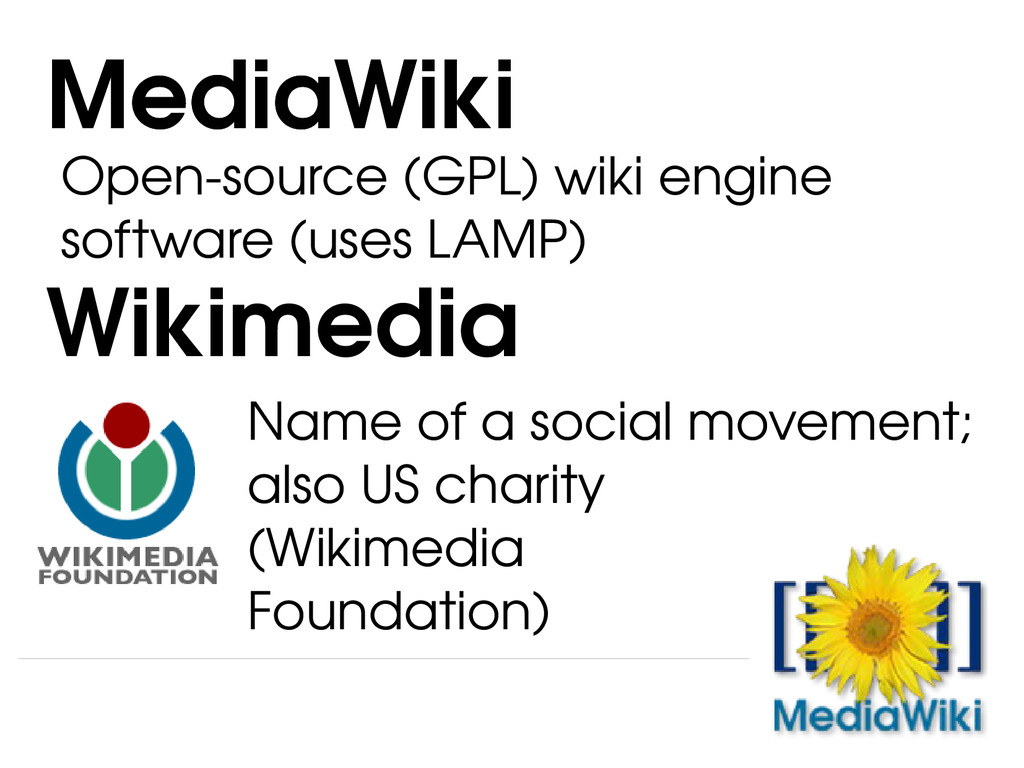 Open­source (GPL) wiki engine software (uses LA...