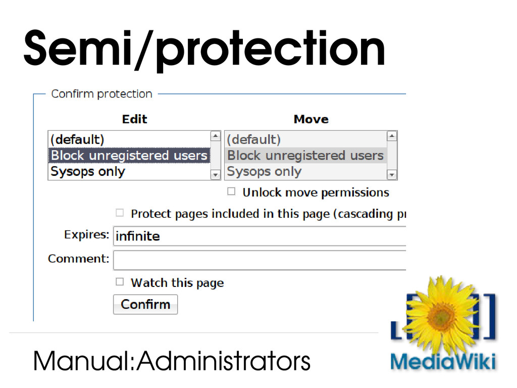 Semi/protection Manual:Administrators
