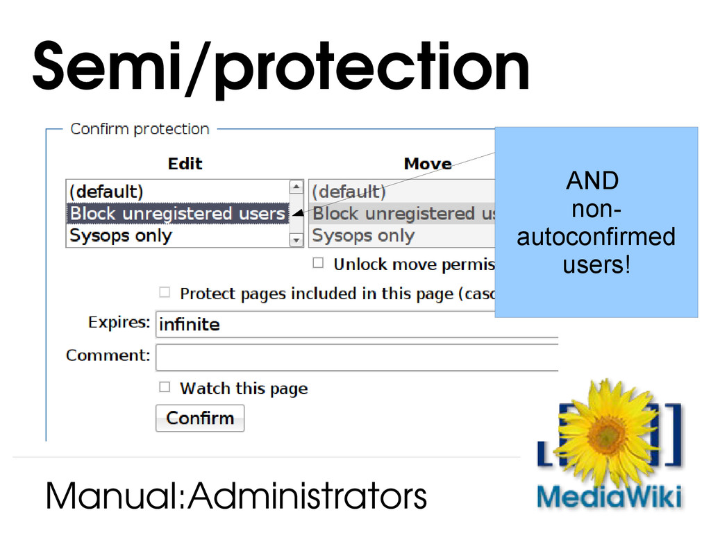 Semi/protection Manual:Administrators AND non- ...
