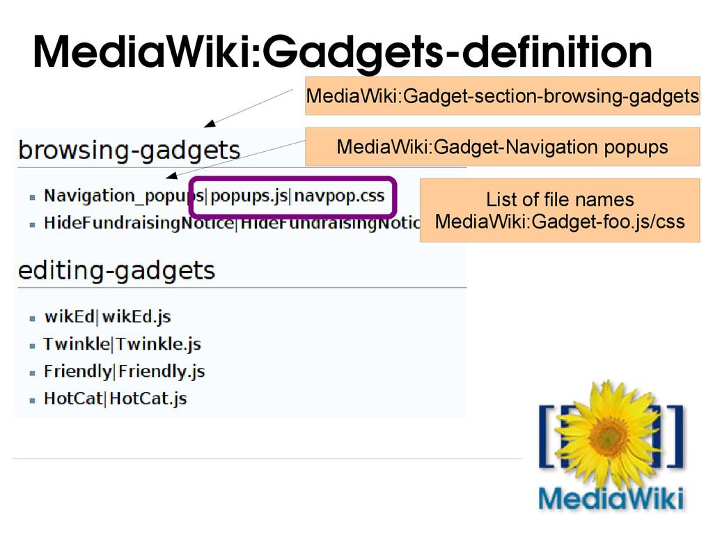 MediaWiki:Gadgetsdefinition MediaWiki:Gadget-s...