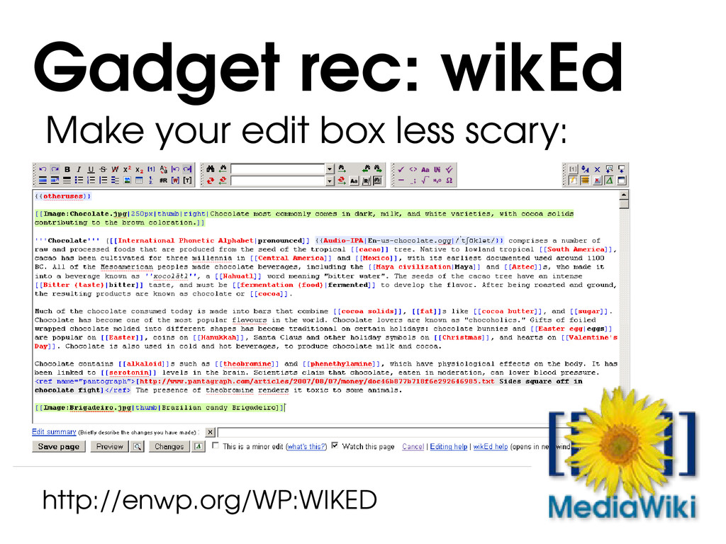 Make your edit box less scary: Gadget rec: wikE...