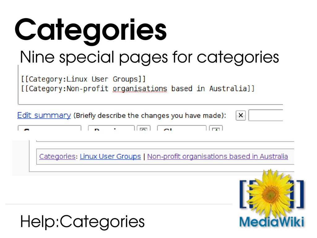Categories Help:Categories Nine special pages f...