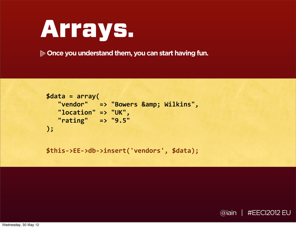 @iain | #EECI2012 EU Arrays. $data	