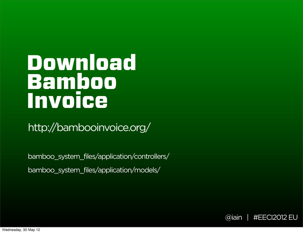 @iain | #EECI2012 EU Download Bamboo Invoice ht...