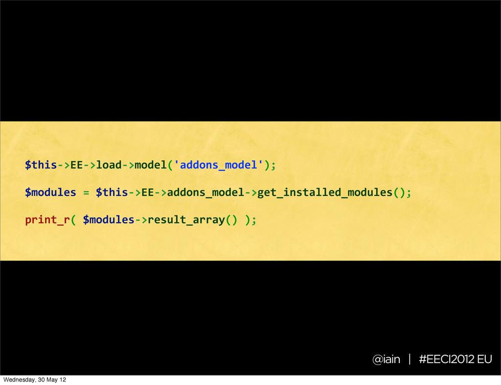 @iain | #EECI2012 EU $this-‐>EE-‐>load-‐>mod...