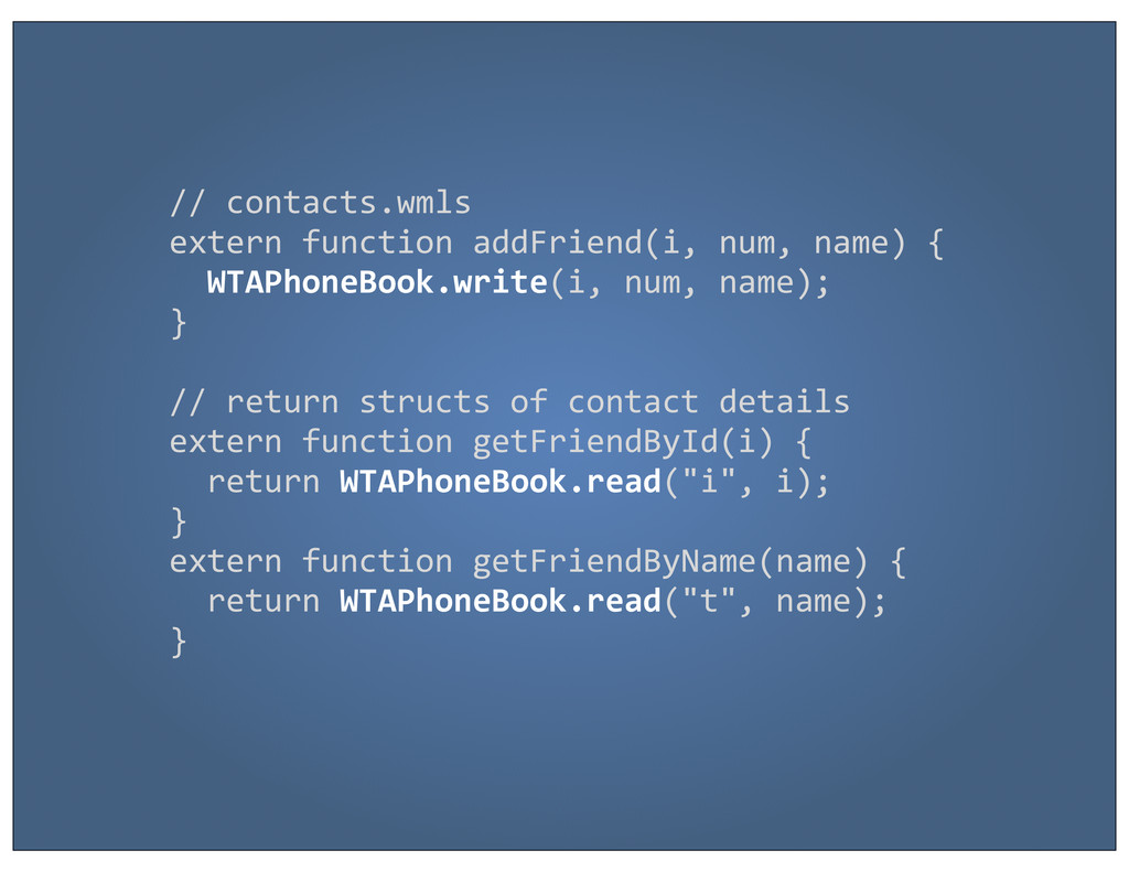 // contacts.wmls extern function addFr...