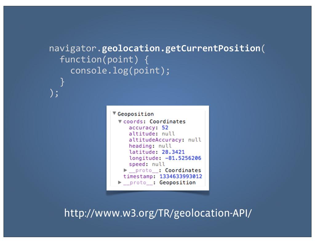 navigator.geolocation.getCurrentPosition(  ...