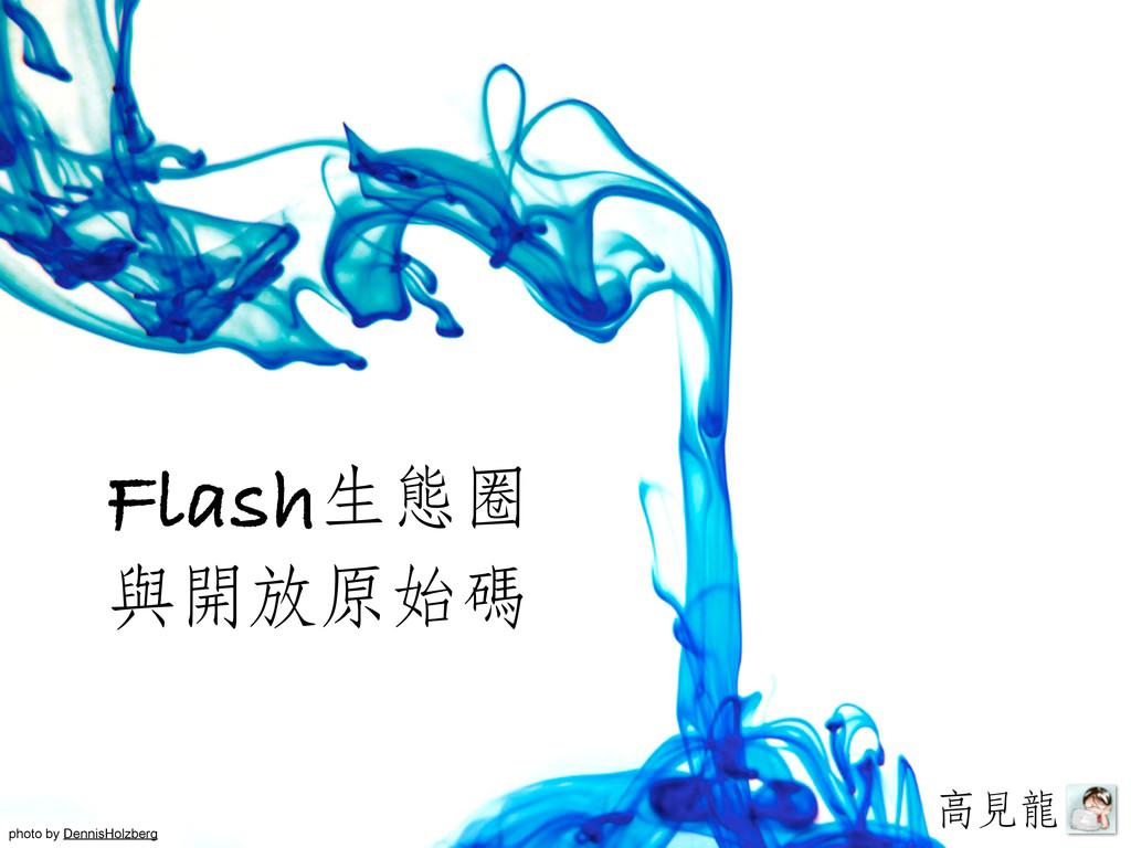 生態圈 與開放原始碼 Flash 高見見龍龍 photo by DennisHolzberg