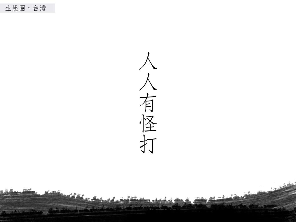 ㆟人 ㆟人 ㈲㊒有 怪 打 生態圈,台灣
