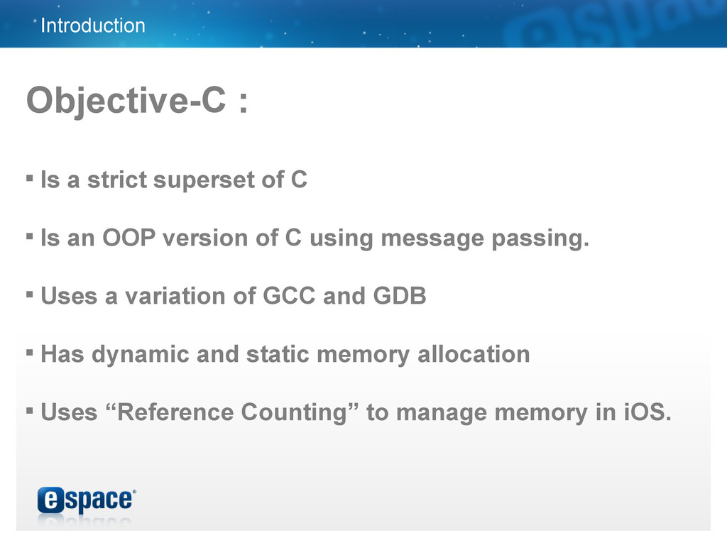 Introduction Objective-C :  Is a strict supers...