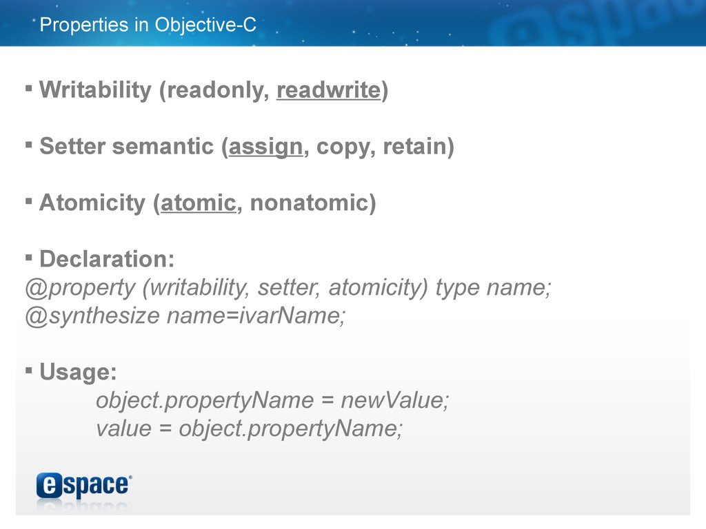 Properties in Objective-C  Writability (readon...