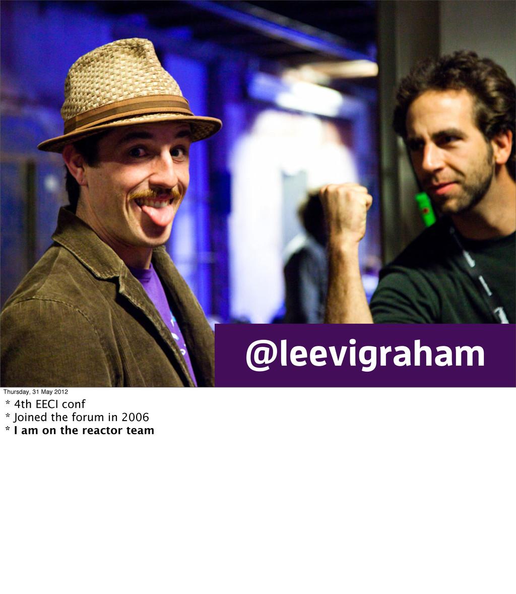 Theming eecms / Leevi Graham / EECI 2012 Europe...