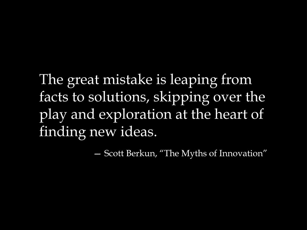 The great mistake is leaping from facts to solu...