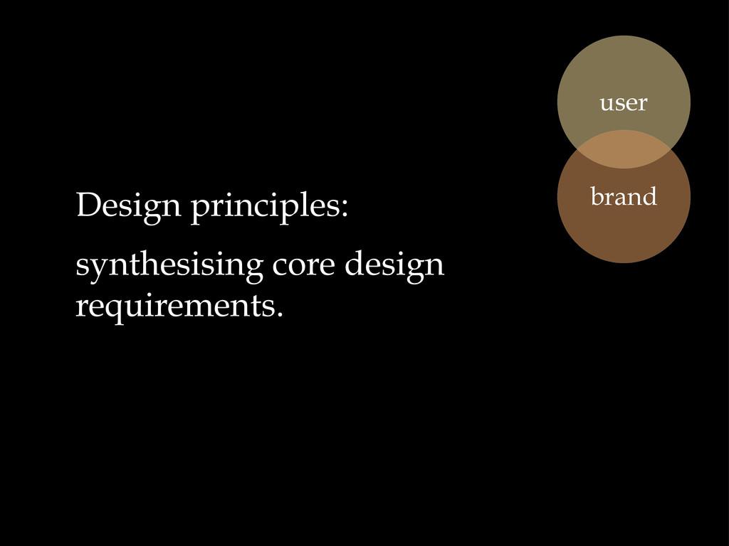 Design principles: synthesising core design req...