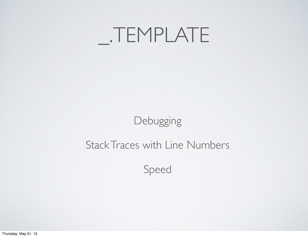 _.TEMPLATE Debugging Stack Traces with Line Num...