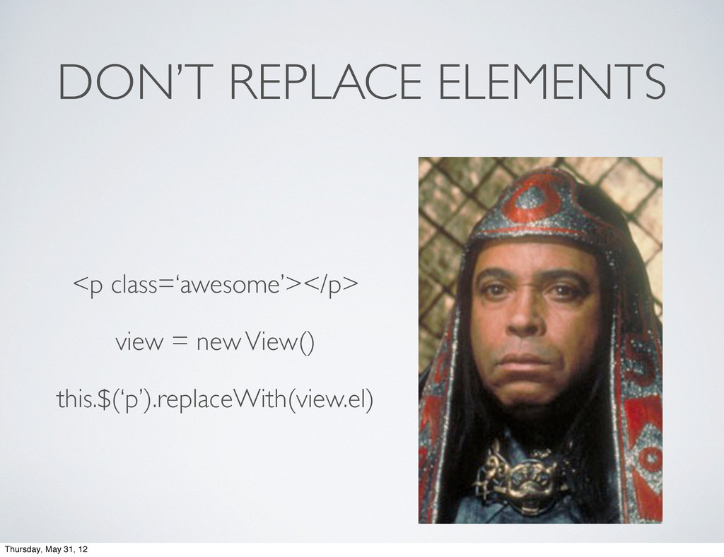 DON'T REPLACE ELEMENTS <p class='awesome'></p> ...