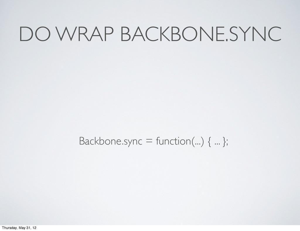 DO WRAP BACKBONE.SYNC Backbone.sync = function(...