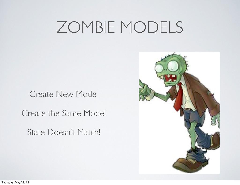 ZOMBIE MODELS Create New Model Create the Same ...