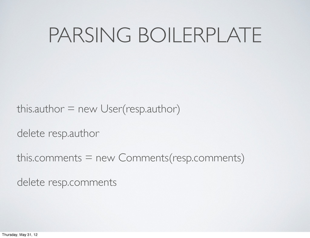 PARSING BOILERPLATE this.author = new User(resp...