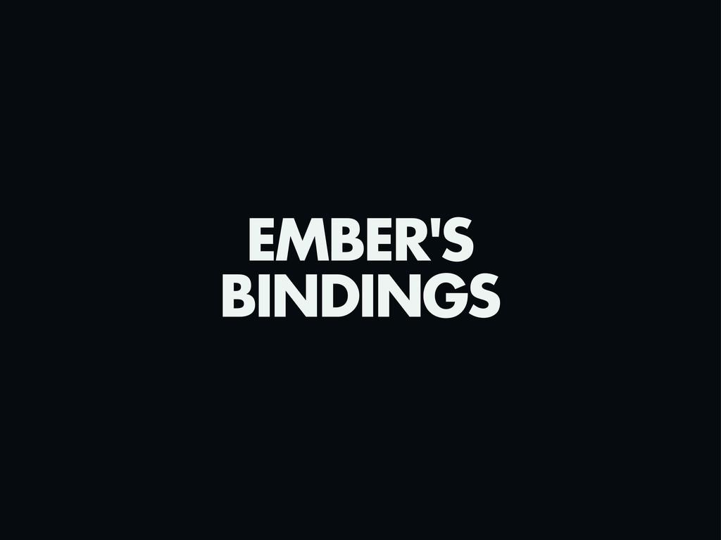 EMBER'S BINDINGS