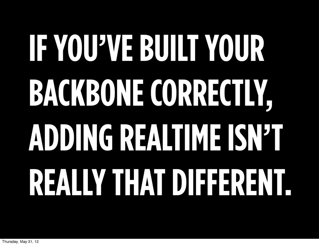 IF YOU'VE BUILT YOUR BACKBONE CORRECTLY, ADDING...