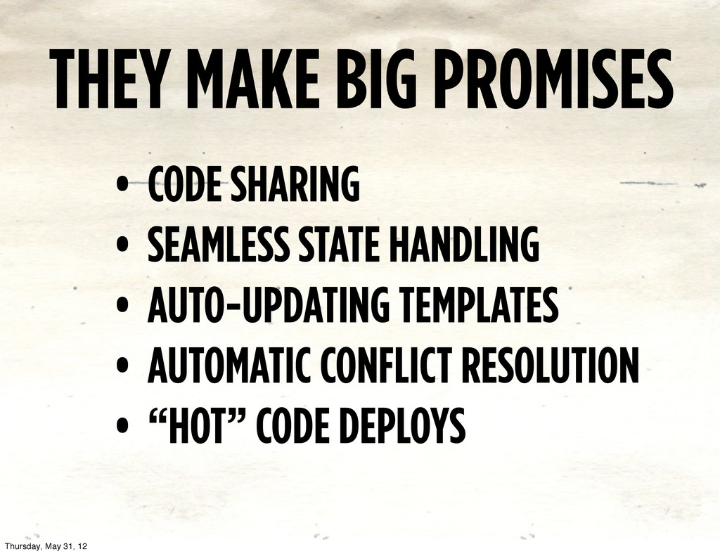 THEY MAKE BIG PROMISES • CODE SHARING • SEAMLES...