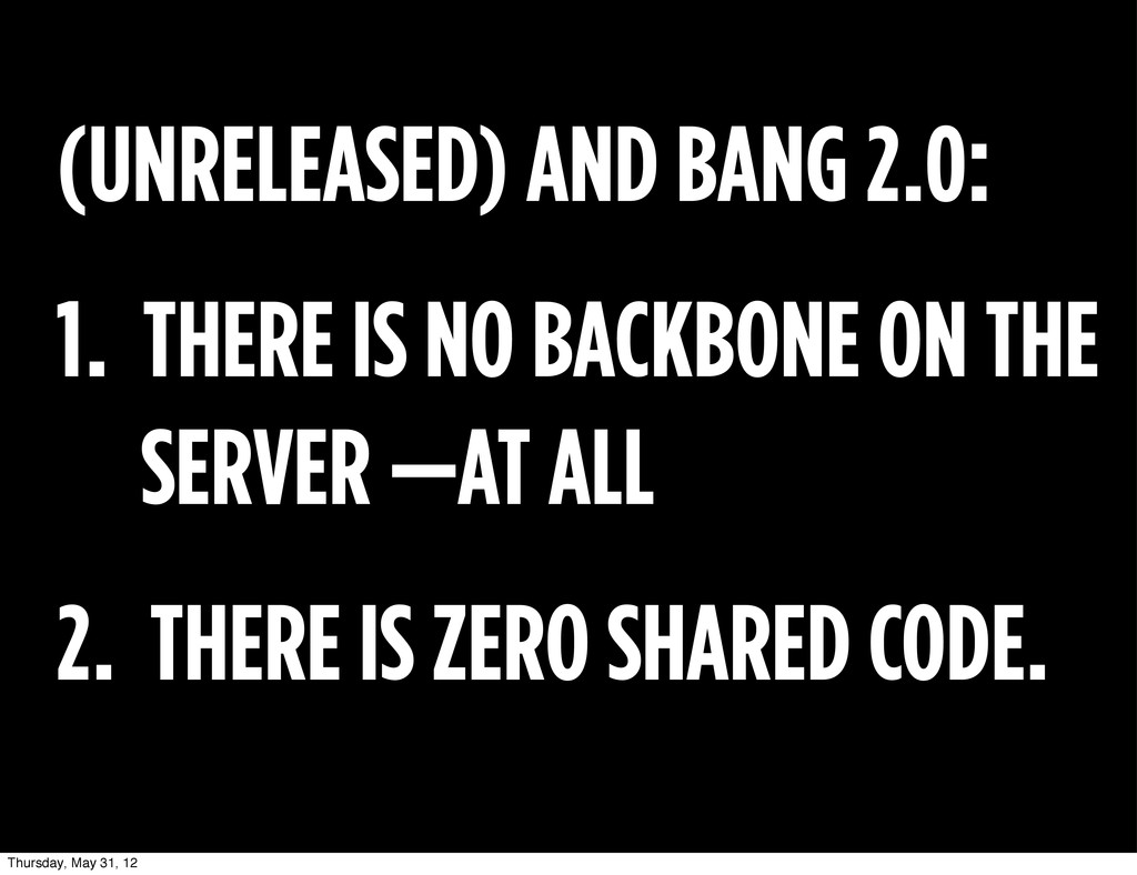 (UNRELEASED) AND BANG 2.0: 1. THERE IS NO BACKB...