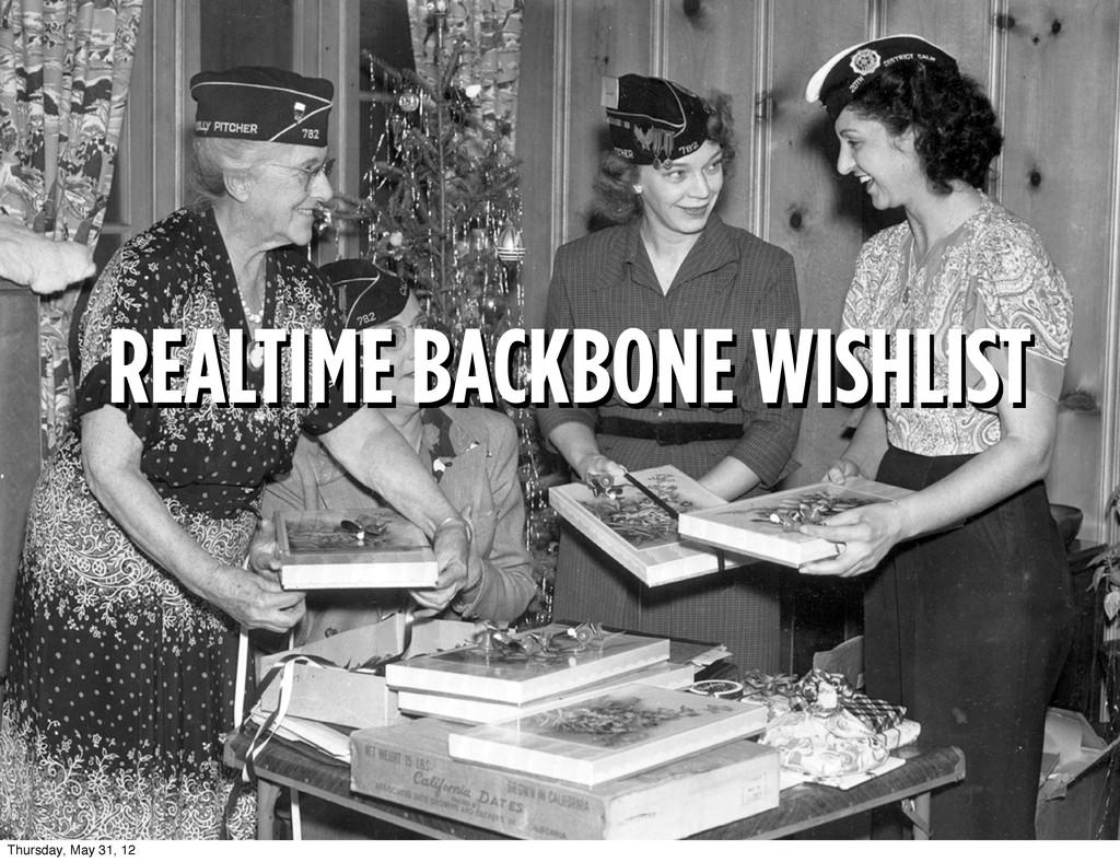 REALTIME BACKBONE WISHLIST REALTIME BACKBONE WI...