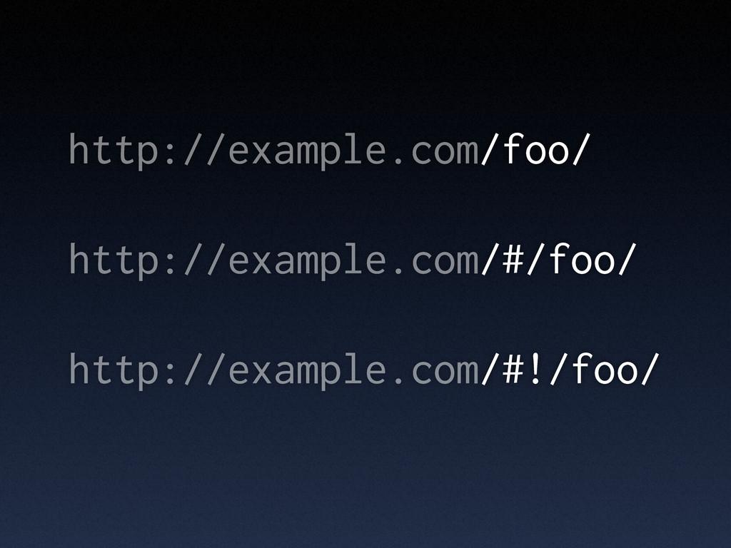 http://example.com/foo/ http://example.com/#/fo...
