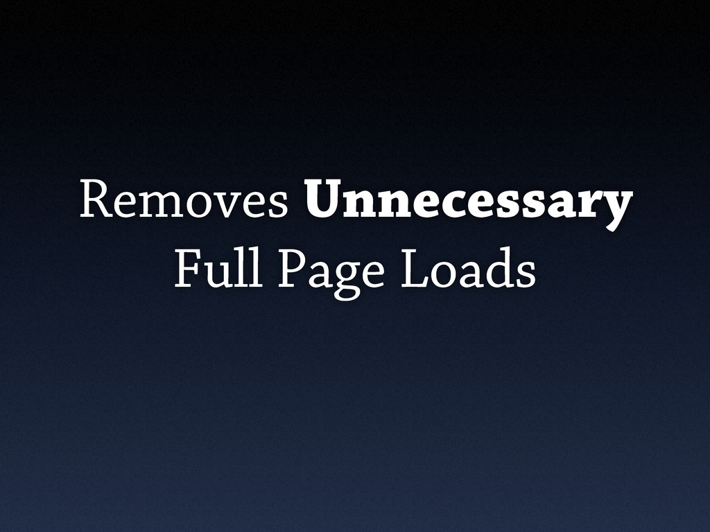 Removes Unnecessary Full Page Loads