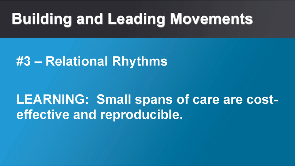 Building and Leading Movements LEARNING: Small ...