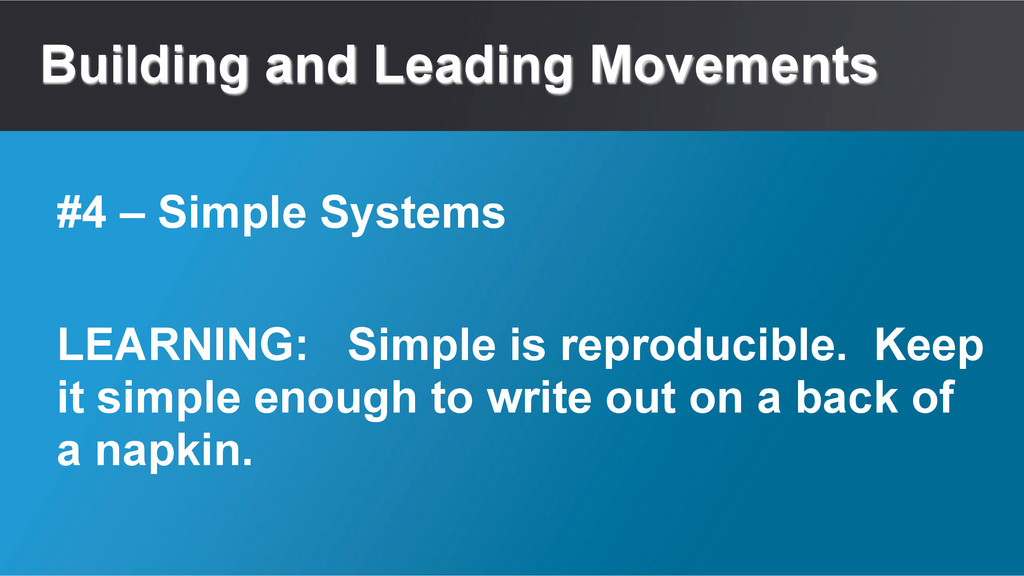 Building and Leading Movements LEARNING: Simple...