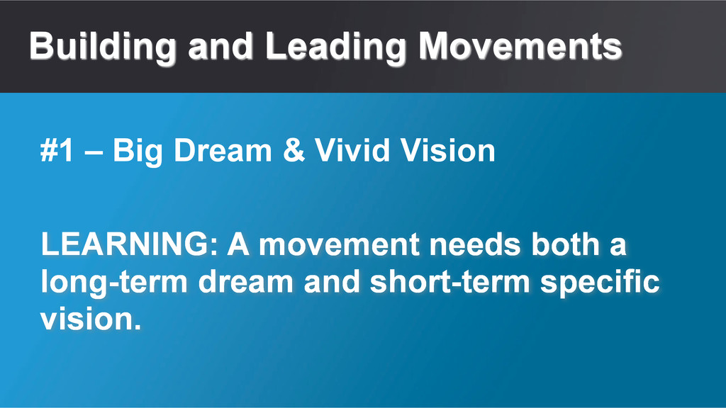 Building and Leading Movements LEARNING: A move...